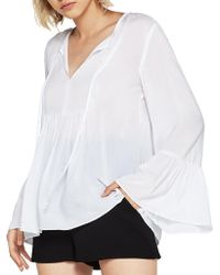 BCBGeneration - Ruffled Sleeve Top - Lyst