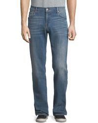 7 For All Mankind - Luxe Performance: Standard Straight-leg Jeans - Lyst