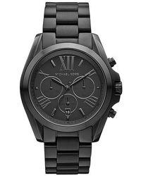 Michael Kors - Ladies Bradshaw Black Ion-plated Chronograph Watch - Lyst
