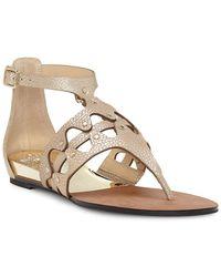 6cd2efcae10 Vince Camuto Women s Kathalia Leather Platform Espadrille Sandals in ...