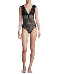 Sam Edelman - Lace Cap-sleeve Bodysuit - Lyst