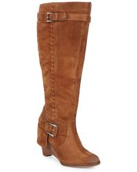 Naughty Monkey - Braid Suede Mid-calf Boots - Lyst