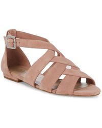 424 Fifth - Mandy Suede Sandals - Lyst