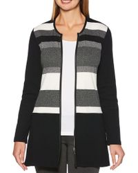 c68bbaeafc Lyst - Express Sleeveless Mock Neck Engineered Rib Sweater in Gray