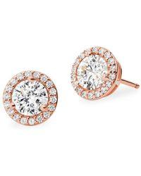 Michael Kors Custom Kors Sterling Silver & Crystal Stud Earrings