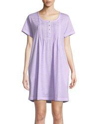 Carole Hochman - Printed Cotton Sleepshirt - Lyst