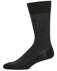 Cole Haan - Geometric Patterned Dress Socks - Lyst