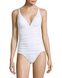 Tommy Bahama - Ruched One-piece Swimsuit - Lyst