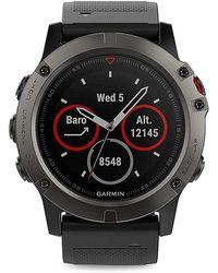 Garmin - Fenix 5 Stainless Steel Silicone-strap Smart Watch - Lyst