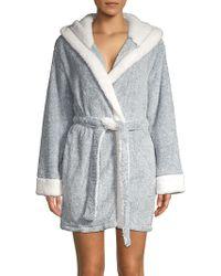 John Lewis Stripe Jersey Hooded Robe in White - Lyst 453545363