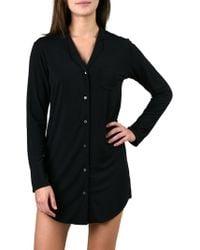 Naked - Notch Collar Sleepshirt - Lyst