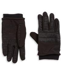 Calvin Klein - Moto Leather Touchscreen Gloves - Lyst