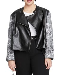 RACHEL Rachel Roy - Trendy Plus Size Charlie Faux-leather Jacket - Lyst