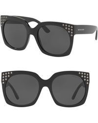 e6580bbd0a6b7 Michael Kors Mk2067 Women s Destin Studded Square Sunglasses in ...