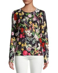 Lord & Taylor - Petite Floral Cashmere Pullover - Lyst