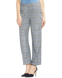 Vince Camuto - Sapphire Bloom Chequered Trousers - Lyst