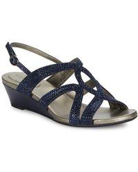 Bandolino - Gomeisa Embellished Wedge Sandals - Lyst