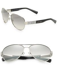 8b06c877c25f Jimmy Choo Waldes Aviator Sunglasses in Metallic - Lyst