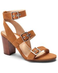 Vionic - Carmel Leather Triple Strap Sandals - Lyst