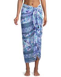 Tommy Bahama - Aquapetals Printed Sarong - Lyst