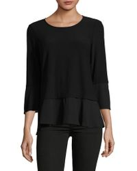 Jones New York - Flutter Bell Sleeve Top - Lyst