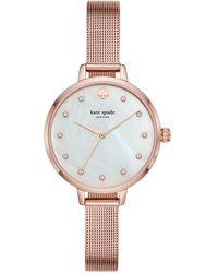 Kate Spade - Metro Mesh Stainless Steel Bracelet Watch - Lyst