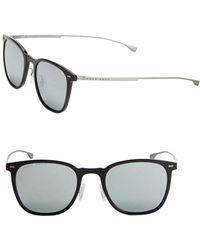 HUGO - 52mm Lightweight Square Sunglasses - Lyst