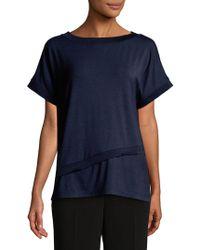 Jones New York - Short Sleeve Asymmetrical Tee - Lyst