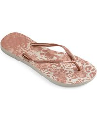 Havaianas - Slim Animal Flip Flops - Lyst