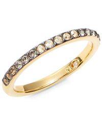 Nadri - Rhinestone And Gold Band Ring - Lyst