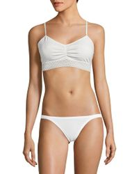 Free People - Hadley Front Ruched Bra - Lyst