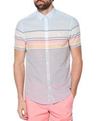 Original Penguin - Slim-fit Striped Shirt - Lyst