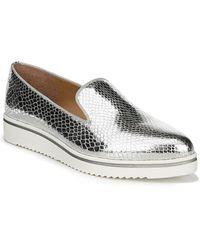 Franco Sarto - Fabrina Metallic Snakeskin Print Loafers - Lyst
