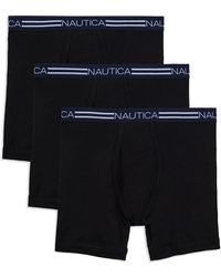 Nautica - Three-pack Basic Cotton Boxer Briefs - Lyst