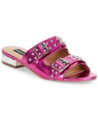 Lord & Taylor - Punk Studded Slip-on Sandals - Lyst