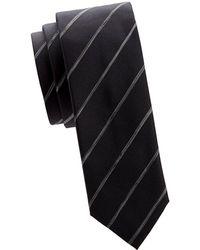 BOSS - Contrast Stripe Silk Tie - Lyst