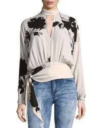 Free People - Tie Around Floral Bouse - Lyst