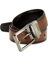 Perry Ellis - Leather Double Side Belt - Lyst