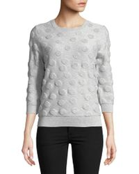 Lord & Taylor - Plus Dotted Cotton Pullover - Lyst