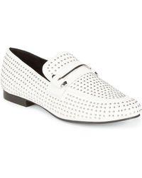 Steve Madden - Kast Leather Stud Loafers - Lyst