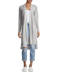 Jones New York - Vented Mixed-stitch Cardigan - Lyst
