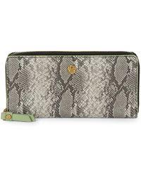 Anne Klein - Slim Zip Around Wallet - Lyst