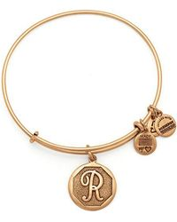 ALEX AND ANI - Initial R Charm Bangle - Lyst
