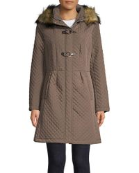 Ivanka Trump - Quilted Faux-fur Hooded Jacket - Lyst
