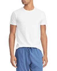 07c06e762 Polo Ralph Lauren 3-Pack Slim Crew Neck Tees in White for Men - Lyst