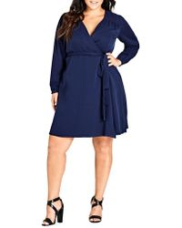 City Chic - Plus Mia Wrap Dress - Lyst