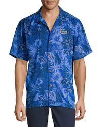 Tommy Bahama - Fuego Floral Silk Collegiate Camp Shirt - Lyst