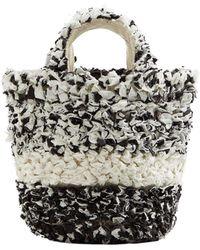 Mango - Texture Bicolor Bag - Lyst