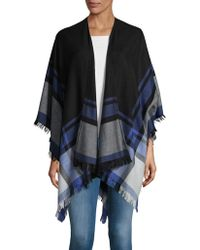 Lord & Taylor | Bold Striped Pancho | Lyst