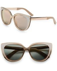 c56ba7ba6a Jimmy Choo - Cindy 57mm Cat s-eye Sunglasses - Lyst